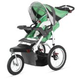 Discount Schwinn Turismo Single Swivel Stroller, Green/Black