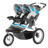 Discount Schwinn Turismo Double Swivel Stroller, Grey/Blue